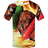 Funny T Shirts T-Shirt Men Tshirt Printed Animal Anime Clothes War Shirt