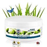 HAKA Körpercreme Olive I 250 ml Tiegel I Feuchtigkeitscreme mit Olivenöl I Mit Vitamin E & Shea Butter I Regeneration und Feuchtigkeitspflege