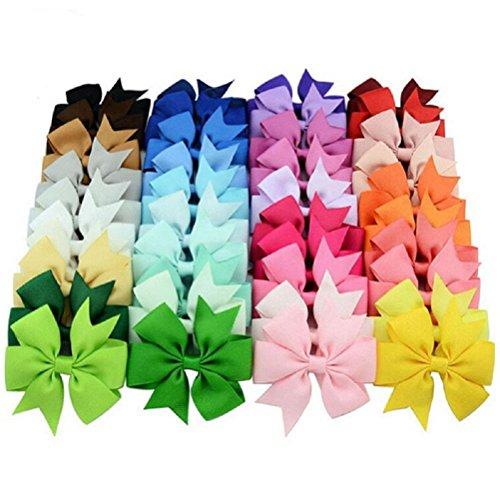 40 Stück /Set Schleife Haarclips / Haarspangen Haarschmuck Für Mädchen