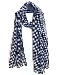 Sri Belha Fashions New Black Star Print Poly Cotton Scarf Stole
