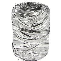 Clairefontaine 601876C Bobina de rafia Metalizado, 100m, color plata