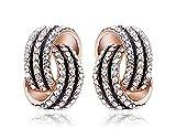 Ruvee Spiral Twist Stud Earrings for Wom...