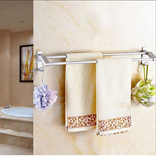ALisu Toallero baño adhesivo No requiere perforación Sin daños en la pared, espacio de aluminio, toallero a 40 cm.