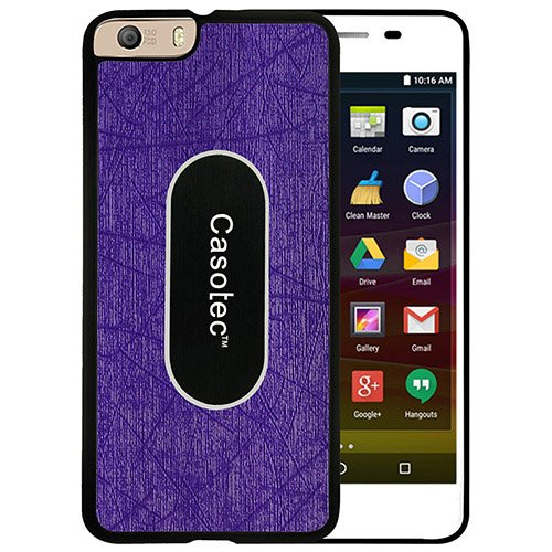 Casotec Metal Back TPU Back Case Cover for Micromax Canvas Knight 2 E471 - Purple  available at amazon for Rs.149