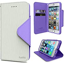 Cellto Apple iPhone 6 Premium Wallet Case 4.7 inch [Dual Magnetic Flap] Diary Cover / High Quality PU Leather + Life Time Warranty