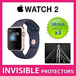 Apple Watch Series 2 38mm iWatch Screen Protector by SUPREME SHIELDS - Military Grade Protection PACK OF 3