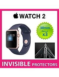 2de la serie Apple reloj 38mm iWatch Protector de pantalla por supremo escudos–grado militar protección Pack de 3