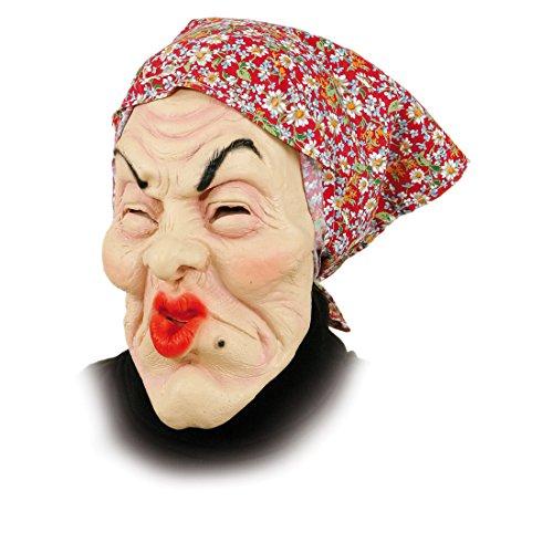 Gummi Maske Alte Frau - Oma Masken (Maske Frau)