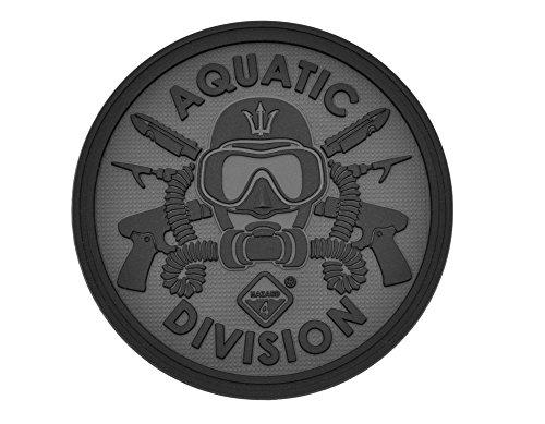 Hazard 4pat-aqa-blk Aquatic Division Patch schwarz -