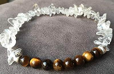 bracelet OEIL DE TIGRE protection Pierres naturelles semi-précieuses Authentiques argent 925