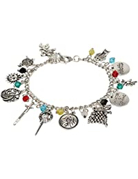 Game of Thrones Multiple Charm Silver Bracelet Accessory Jewelry for Woman and Girls