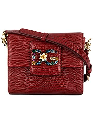 Dolce E Gabbana Women's Bb6391a109587515 Red Leather Shoulder