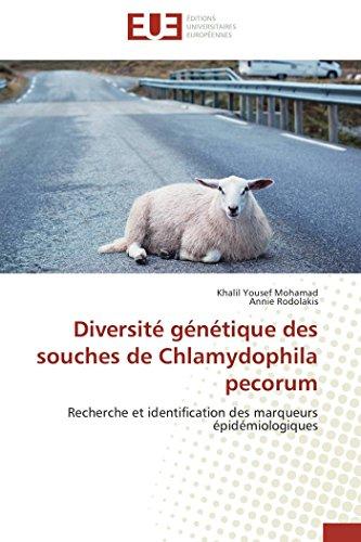 Diversité génétique des souches de chlamydophila pecorum par Khalil Yousef Mohamad
