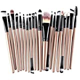 Gaddrt 20 Stück Make-up Pinsel Set Werkzeuge Make-up Kulturbeutel Wolle Make-up Pinsel Set Augenbrauenbürste