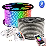 LED Streifen, GreenSun LED Lighting 20M RGB LED Strip, Bluetooth Kontrolliert Lichtband 24 Tasten Fernbedienung Lichterschlauch, Wasserdicht IP65 Lichterkette für Weihnachten, Party, Haus Deko