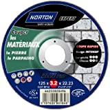 Norton Tronçonnage à moyeu déporte expert Matériaux 125 x 3,2 x 22,2 mm