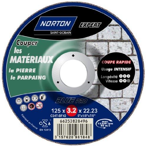 Norton Trennscheiben für Nabendynamo déporte expert Material 125 x 22,2 x 3,2 mm