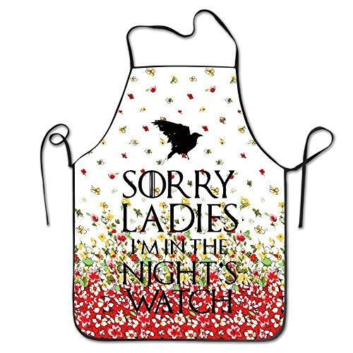 UYTGYUHIOJ Sorry Ladies I'm In The Night's Watch Beautiful Art Servers Kitchen Restaurant Bib Apron