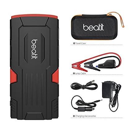 51xCE1gdqfL. SS416  - Beatit D11 800 A pico 18000 mAh 12 V arrancador de coche portátil (hasta 7,5 L de gas o 5,5 L diésel) con Smart Jumper Cables Auto batería Booster Power Pack