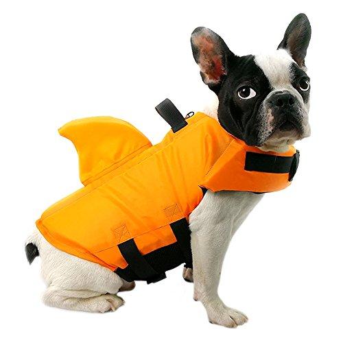 Petacc Hundeschwimmweste,Schwimmtraining für Hunde, Orange
