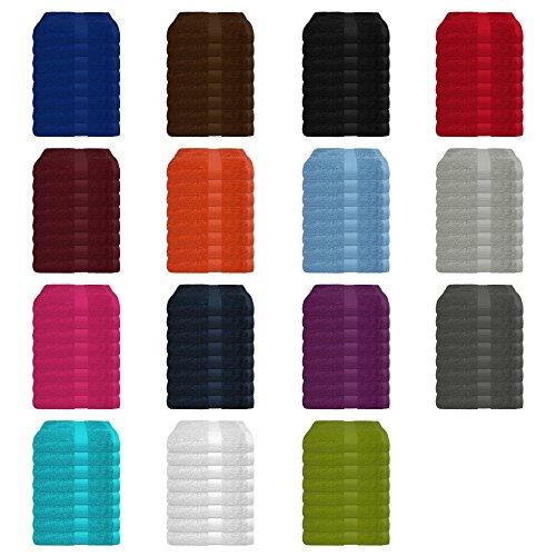 8 tlg. Handtuch-Set in vielen Farben - 8 Handtücher 50x100 cm - Farbe weiss