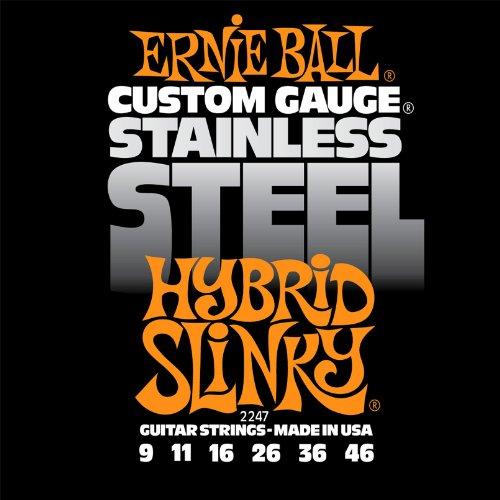 ernie-ball-2247-jeu-de-cordes-9-46-hybrid-slinky-stainless-steel