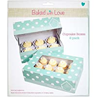 Baked With Love Cup Cake Box, Pack of 12