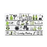 TianranRT Aufkleber dick Aluminium Folie Küche Schrank Aufkleber wasserdicht selbstklebend Tapete