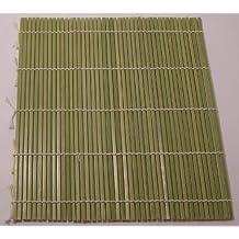 Kitchencookshop - Esterilla para hacer sushi (bambú, 24 x 24 cm)