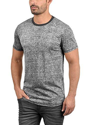 !Solid Tellion Herren T-Shirt Kurzarm Shirt Rundhalsausschnitt Aus Hochwertiger Baumwollmischung Meliert Black (9000)