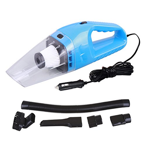 Blau Automatische Vakuum (TOPQSC Auto-Staubsauger - Hohe Leistung - 120 W DC 12V - Portable - automatisches Hand-Auto Vakuum, mit einem automatischen Staubsauger geschüttelt, mit einem Stecker Zigarettenanzünder, ein 5M Netzkabel (Blau))