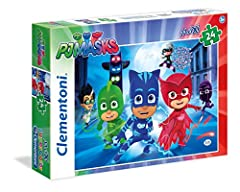 Idea Regalo - Clementoni- Masks PJ Marks Supercolor Puzzle, 24 Pezzi, 24488