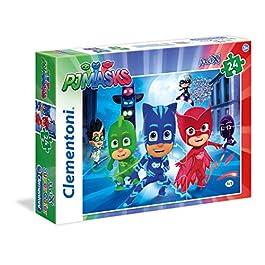 Clementoni Masks PJ MARKS Supercolor Puzzle, 24 Pezzi, 24488