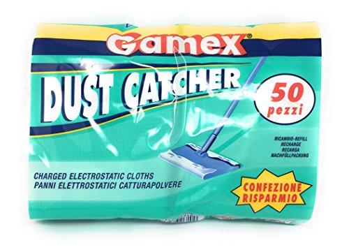 Gamex elektrostatische Wischmop Staubfänger–50Stück–Hergestellt in Italien