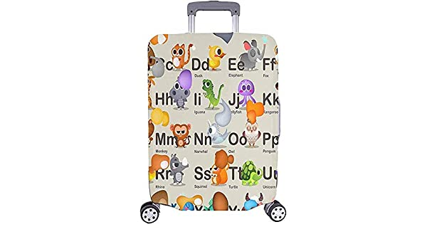Luggage Cover Narwhal Pattern Protective Travel Trunk Case Elastic Luggage Suitcase Protector Cover