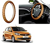 #3: Auto Pearl - Adinox Premium Quality Ring Type Car Steering Wheel Cover (Gold Full Beige) For -Tata Tiago