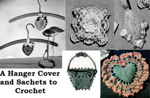 Ein Aufhänger-Cover und Sachets zu häkeln (Gehäkelte Beutel)