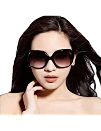 Ziory Unisex European Oversized UV400-Shining Plastic;Polycarbonate;Acrylic Fashion Classic Sunglasses (Black and Grey, 1695)