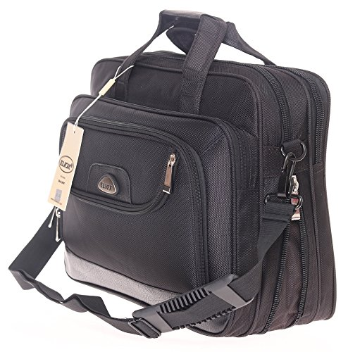 Messenger Bag, Arbeitstasche, XL, Schultertasche, Umhängetasche, Tasche, Querformat, Schwarz, Herrentasche