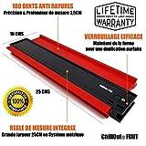 Chillout® FIXIT Jauge de contour 250mm - easycoupe duplicateur de contour forme large pro mesure en centimètres