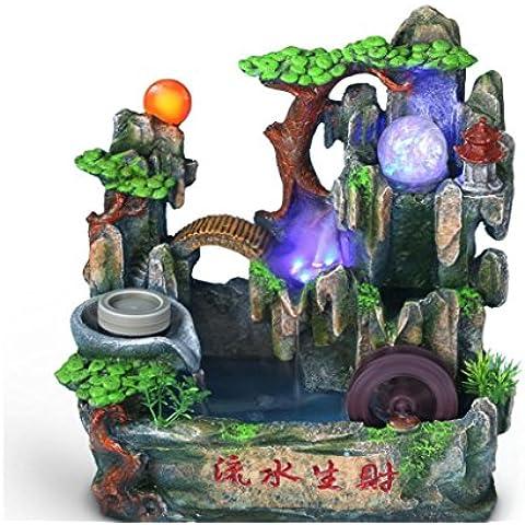 MYM Fontana giardino roccioso e l'acqua della turbina di vento aperto tavoli da ufficio decorazione (Tavolo Cornucopia)