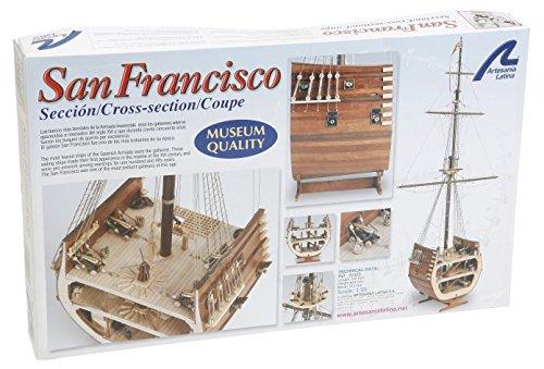 Holzmodell Galeone Abschnitt San Francisco 1/50