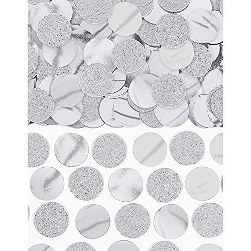 Amscan International-360220-18confetti-70g Emb/impresión/met/sccnf 225SLVR Gltr/FL Círculo