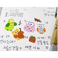 Kawaii DIY Decal Owl/Giraffe Cartoon Cute Diary Transparent Stickers Calendar Organizer Diary Decoration Stickers