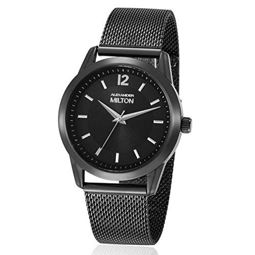 ALEXANDER MILTON - montre femme - EPONA, noir