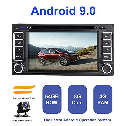 Android Autoradio Stereo, ZLTOOPAI Für Toyota Land Cruiser 100 200 Prado 120 150 Ansturm Corolla Hiace Yaris Hilux Android 9,0 Octa Core 4G RAM 64G ROM Auto Stereo GPS Radio DVD-Player (Toyota Corolla 2006 Auto Stereo)