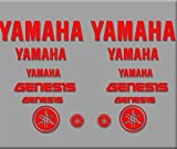 Ecoshirt 17-8JLT-1NWC Pegatinas Genesis R316 Stickers Aufkleber Decals Autocollants Adesivi Moto GP, Rojo