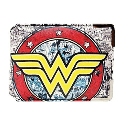 Wonder Woman para viaje/Ostra Tarjeta de Identificación.El tamaño perfecto para pases de autobús o tarjetas Oyster con dos más práctico bolsillos de tarjeta de crédito en el interior y el añadido de protección RFID.Piel sintética con bordes de metal....