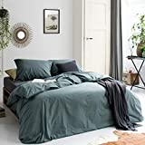 Walra Bettwäsche The New Vintage grün, Uni 100% Baumwolle Perkal User Look