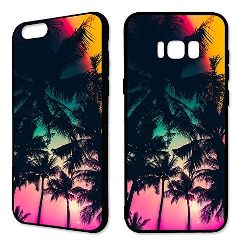 Premium Handyhülle 'Tropical' für Samsung Galaxy - Silikon   Tropen   Palmen   Urlaub   Strand   Ananas   Früchte   Flamingo, Handy:Samsung Galaxy S6, Hüllendesign:Design 3   Silikon Schwarz (Urlaub Flamingo)